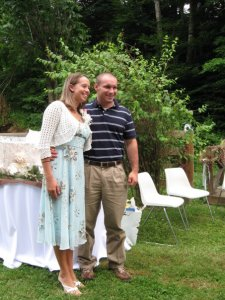 William and Paige at their Wedding Shower July 2009